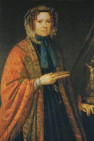 Juliette Françoise Colbert. Pietro Ayres, olio su tela. Palazzo Barolo, Torino.