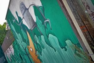 Mr Fijodor, murale senza titolo, 2018, ditta Arrighi, via Pietro Cossa ang via Appio Claudio