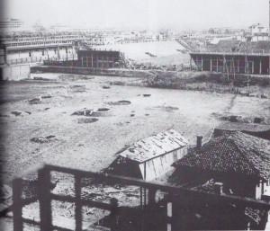 Incursione del 13 luglio 1943, il campo del Torino in via Filadelfia. © Archivio Storico AMMA
