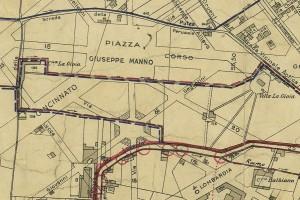 Cascina Gioia. Pianta di Torino, 1935. © Archivio Storico della Città di Torino