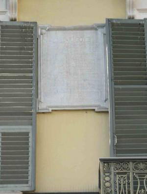 Lapide dedicata a Giuseppe Pomba. Fotografia di Elena Francisetti, 2010. © MuseoTorino.