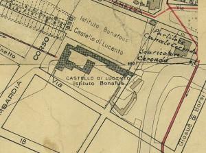 Castello di Lucento. Pianta di Torino, 1935. © Archivio Storico della Città di Torino