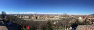 Panorama dal Monte dei Cappuccini. Fotografia di Laura Tori, 10.2.2016