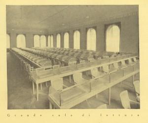 Biblioteca civica Centrale, grande sala di lettura, 1929. Biblioteca civica Centrale © Biblioteche civiche torinesi