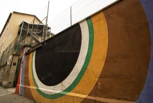 Moneyless, murale senza titolo, 2012, via Nizza ang. via Rosmini