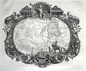 Pianta topografica della città di Torino assediata nel 1706, 1725