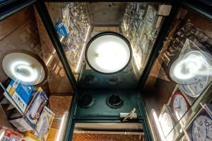 Leporati Elettrodomestici Radio-TV, particolare della bussola d'ingresso, 2017 © Archivio Storico della Città di Torino