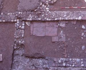 Particolare dell'ambiente con focolare, © Soprintendenza per i Beni Archeologici del Piemonte e del Museo Antichità Egizie.