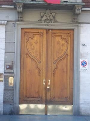 Angelo Santoné, Casa Noro Borione, 1906, particolare dell'ingresso. Fotografia L&M, 2011.