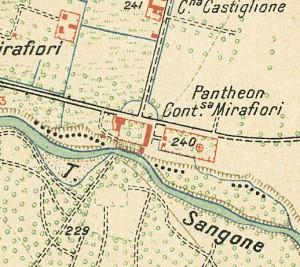 Cascina Mirafiori. Istituto Geografico Militare, Pianta di Torino e dintorni, 1911. © Archivio Storico della Città di Torino
