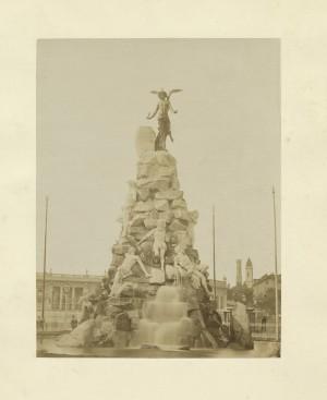 Luigi Belli, Monumento al traforo del Frejus, 1879. © Archivio Storico della Città di Torino