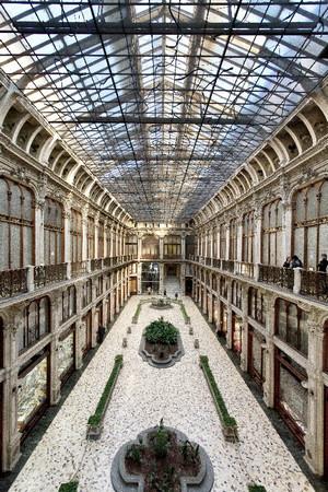 Pietro Carrera, Galleria Subalpina (veduta dall'alto, frontale), 1874. Fotografia di Mattia Boero, 2010. © MuseoTorino.