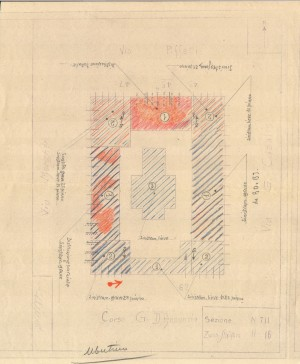 Bombardamenti aerei. Censimento edifici danneggiati o distrutti. ASCT Fondo danni di guerra inv. 711 cart. 14 fasc. 96. © Archivio Storico della Città di Torino