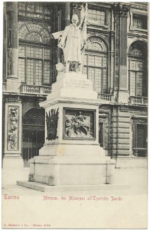 Vincenzo Vela, Monumento all'Alfiere dell'Esercito Sardo, 1856. © Archivio Storico della Città di Torino