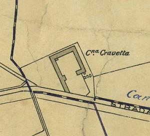 Cascina Cravetta. Pianta di Torino, 1935. © Archivio Storico della Città di Torino