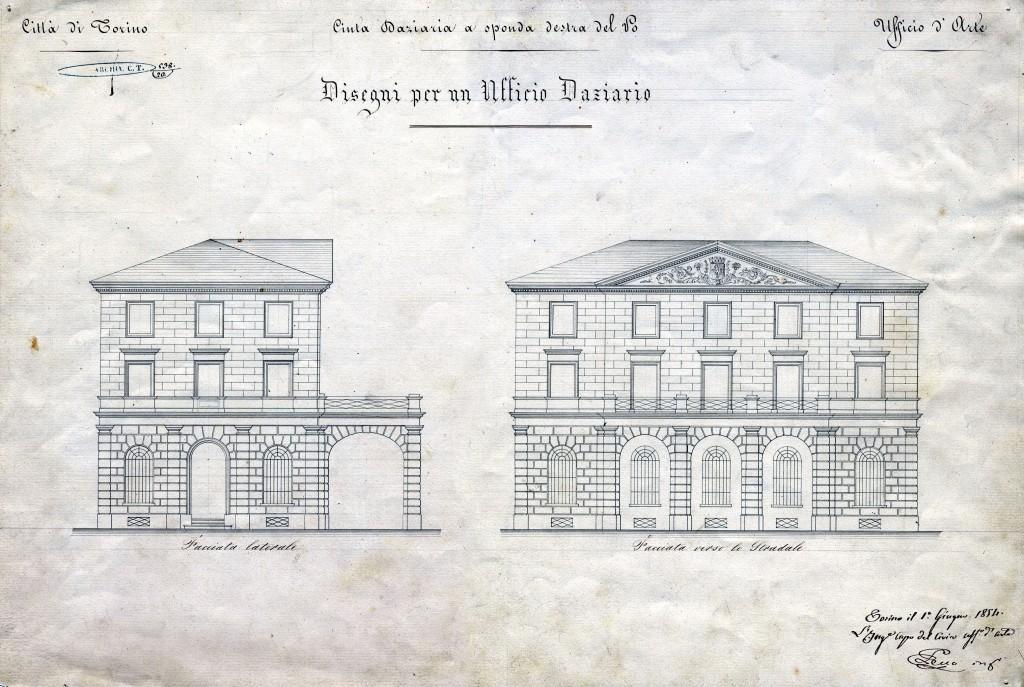 Cinta daziaria del 1853 museotorino for Disegni di uffici di garage