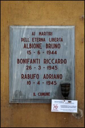 Lapide dedicata a Albione Bruno, Bonifanti Riccardo, Rabufo Adriano