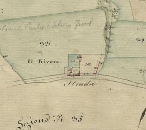 Cascina del Rivore. Catasto Gatti, 1820-1830. © Archivio Storico della Città di Torino