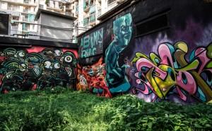 Truly Design, TOTS Crew, ADC Crew, Galo, senza titolo, particolare del murale, 2015, giardinetti di via Fattori. Fotografia di Rosaria Scira, 2015 © Edizioni del Capricorno