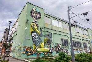 Associazione Artefatti, murale senza titolo, 2006, piazza Pollarolo