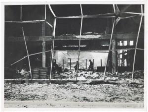 Teatro della Moda, Corso Massimo D'Azeglio.  Effetti prodotti dai bombardamenti dell'incursione aerea del 12-13 agosto 1943. UPA 3914D_9E03-19. © Archivio Storico della Città di Torino/Archivio Storico Vigili del Fuoco