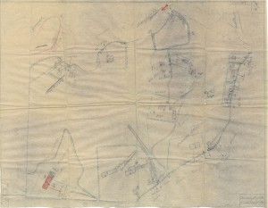 Bombardamenti aerei. Censimento edifici danneggiati o distrutti. ASCT Fondo danni di guerra inv. 2533 cart. 52 fasc. 3 foglio n. 1. © Archivio Storico della Città di Torino