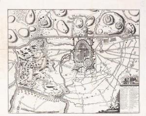 Pianta topografica della città e delle campagne, assedio del 1706