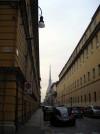 Ala nuova del complesso di Santa Croce, via Giolitti angolo via San Massimo, poi caserma Podgora. Fotografia di Silvia Bertelli