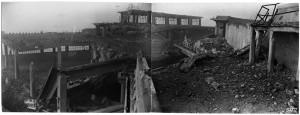 Via Nizza, FIAT Lingotto. Effetti prodotti dai bombardamenti dell'incursione aerea dell' 8-9 dicembre 1942. UPA 2841D_9F02_49. © Archivio Storico della Città di Torino