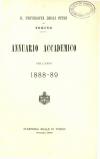 «Annuario accademico», A. XIII, a.a. 1888-1889, Torino, copertina