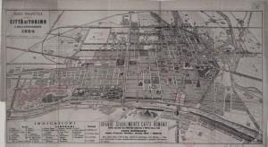 Pianta prospettica della Città di Torino e dell'Esposizione 1884. Biblioteca civica centrale, Cartografico  8/10.13 © Biblioteche civiche torinesi
