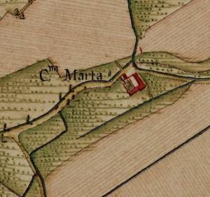 Cascina Maletta. Carta Topografica della Caccia, 1760-1766 circa. © Archivio di Stato di Torino