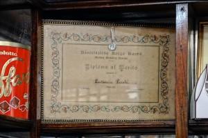Frasca confetteria pasticceria, Diploma rilascita alla Pasticceria Pastè