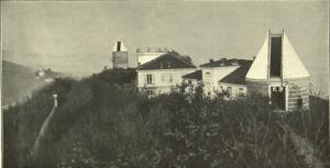 Veduta dell'Osservatorio astronomico dal padiglione del grande equatoriale, 1914