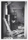 """Scuola Elementare """"Madonna di Campagna"""", Viale Madonna di Campagna. Effetti prodotti dai bombardamenti dell'incursione aerea dell'8-9 dicembre 1942. UPA 2823_9D01-32. © Archivio Storico della Città di Torino"""