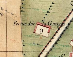 Cascina La Grangia, già Lagrange. Catasto Napoleonico, 1805. © Archivio di Stato di Torino
