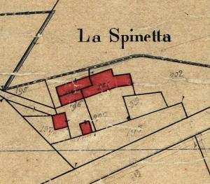 Cascina Spinetta, già Taschero. Catasto Rabbini, 1866. © Archivio di Stato di Torino