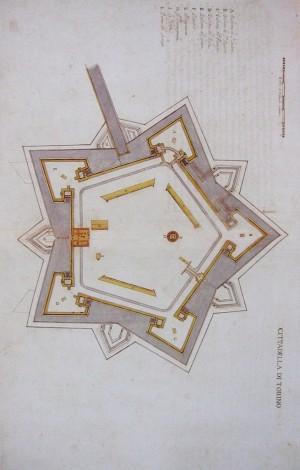 Carlo Morello, Rilievo della Cittadella, 1656. BRT, Militari 178. © Biblioteca Reale di Torino