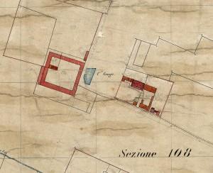 Cascina La Grangia, Grange. Catasto Rabbini, 1866. © Archivio di Stato di Torino.