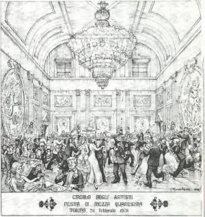 Circolo degli Artisti, festa di mezza quaresima, 1978 © Circolo degli Artisti di Torino
