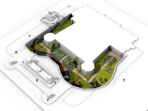 Giardino medievale di Palazzo Madama. Modello di progetto Officina delle idee, 2011. © Fondazione Torino Musei
