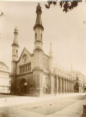Tempio Valdese. Fotografia di Mario Gabinio, 13 agosto 1925. © Fondazione Torino Musei - Archivio fotografico