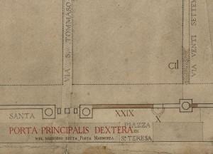 Tratto delle mura della città romana su via Santa Teresa