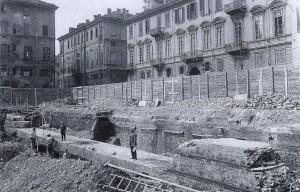 """Mura della città romana nel palazzo dei """"Servizi di Igiene e Sanità"""""""