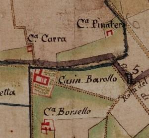 Cascina Panatera. Carta delle Regie Cacce, 1816, © Archivio di Stato di Torino.
