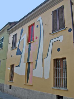 Enzo Bersezio, Senza titolo, 1998, opera murale per MAU Museo Arte Urbana, via Musinè 19. Fotografia di Alessandro Vivanti, 2011