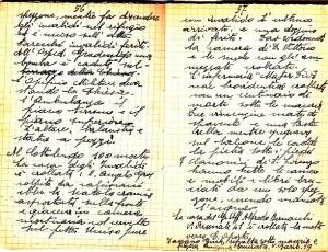 Diario dell'Istituto Lorenzo Prinotti, 1943. ASCT, Fondo Prinotti cart. 31 fasc. 11, 10, pp. 56-57. © Archivio Storico della Città di Torino