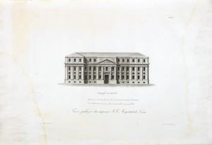 Ignazio Michela, Ortografia meridionale (facciata) del nuovo Palazzo dei Supremi magistrati (o Curia Maxima), 1841. © Archivio Storico della Città di Torino