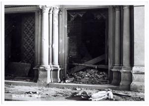 Chiesa di San Gioacchino, Corso Giulio Cesare angolo Via Vittorio Amedeo Cignaroli 3. Effetti prodotti dai bombardamenti dell'incursione aerea dell'8-9 dicembre 1942. UPA 2760D_9C06-16. © Archivio Storico della Città di Torino
