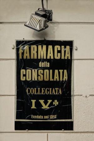 Farmacia della Consolata, insegna, 2016 © Archivio Storico della Città di Torino
